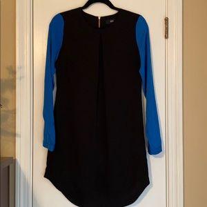 Mossimo Black and Blue Shift Dress XS